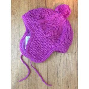 JoJo Maman Bebe Accessories - JoJo Maman Bebe Cable Knit Girls Winter Hat  Pink 3a199905fa0